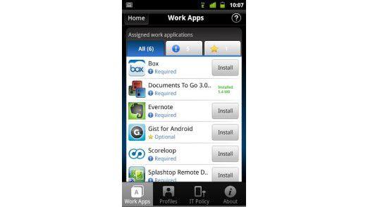 Die Client-App von Mobile Fusion (Android)