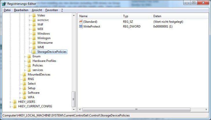 Rgistry-Eingriff verhindert Datendiebstahl.