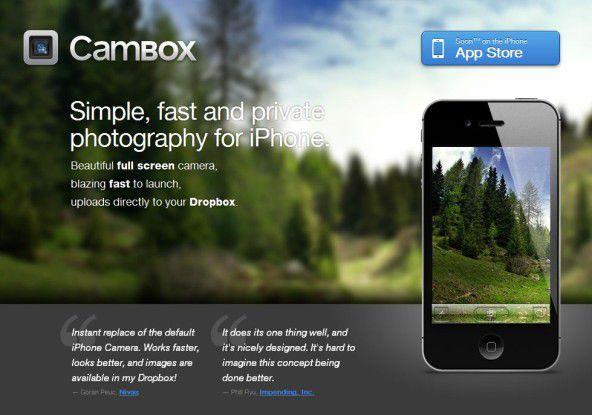 Wegen der Einbindung von Dropbox wurde der Cambox-App die Aufnahme in den iTunes AppStore verwehrt.