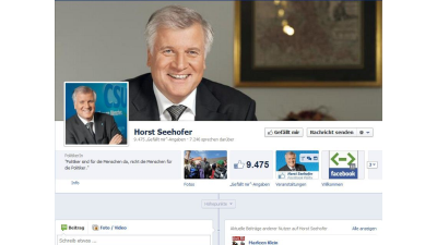 Politik 2.0: Seehofer lädt zu Facebook-Party - Foto: Facebook