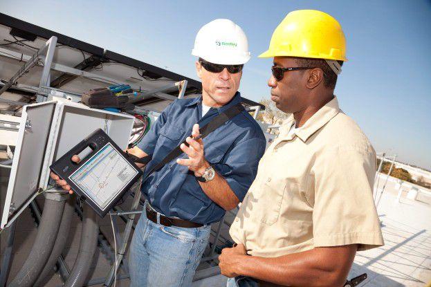 Outdoor-Tablets sind eher für raue Umgebungen geschaffen als für das Büro, zum Beispiel für den Einsatz auf der Baustelle. Im Bild zu sehen ist der Motion F5v Tablet PC