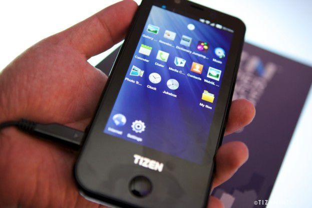 Ein Demo-Gerät auf der Tizen Developer Conference Anfang Mai 2012