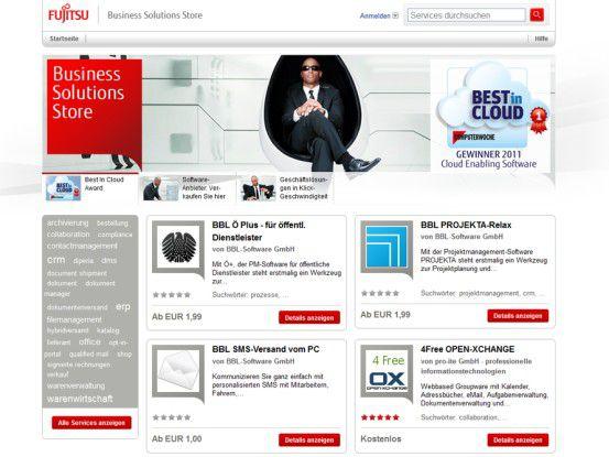 Der Business Solutions Store von Fujitsu.