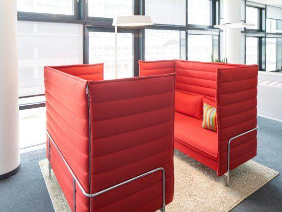 Im neuen Vodafone-Campus in Düsseldorf gibt es viele Austauschmöglichkeiten.