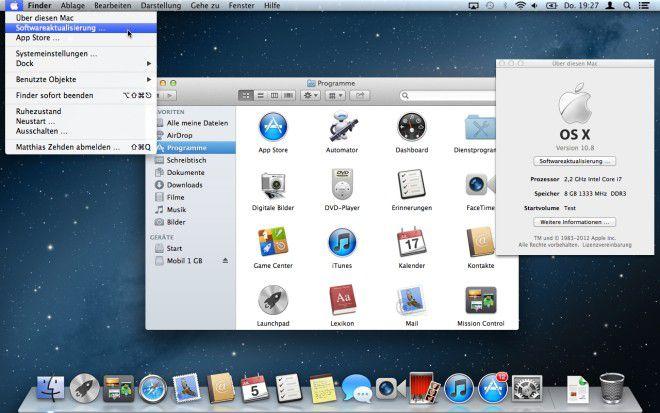 Einer der ersten Handgriffe nach der Installation von Mountain Lion ist die Suche nach Updates, um alle Systemkomponenten und installierten Apps auf den aktuellen Stand zu bringen.