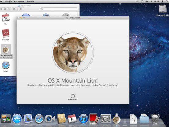 OS X Mountain Lion richtig installieren.
