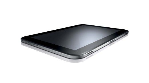 Via Bluetooth findet jedes entsprechend ausgestattete mobile Gerät zu einer Tastatur. Hier Toshibas Slate-Tablet AT300 mit Nvidia Tegra 3 und Android 4.0 (Ice Cream Sandwich).