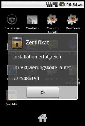 """ZitMo tarnt sich als App mit dem Namen """"Zertificat""""."""