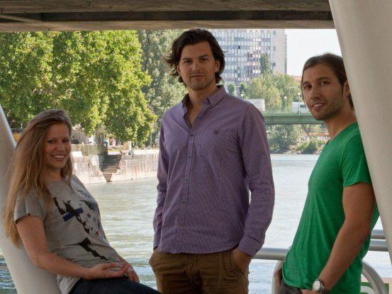 Das Finderly-Gründungsteam: Katharina Klausberger, Armin Strbac und Stefan Fleig (von links).