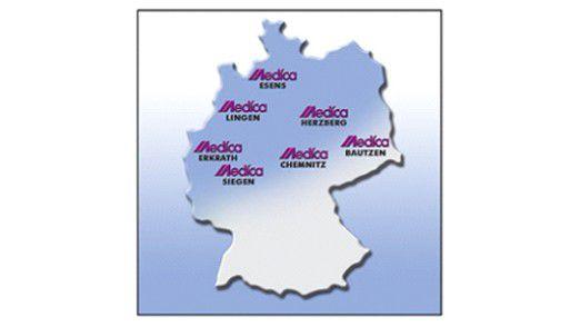 Bundesweit sind die Mitarbeiter der Medica-Technik GmbH über ein Endgerät erreichbar.
