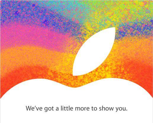 """""""A little more to show"""" hat Apple am 23. Oktober - zehn Tage später soll das iPad Mini angeblich schon erhältlich sein."""