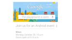 Android-Event: Google-Konferenz findet am 29. Oktober statt - Foto: Google