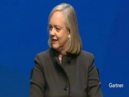 """HP-CEO Meg Whitman auf der Gartner-Veranstaltung """"Symposium/ITxpo 2012"""" in Florida."""