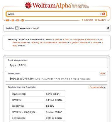 Wolfram Alpha bringt das Web auf den Punkt.