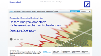 Green IT Best Practice Award 2012: Deutsche Bank AG