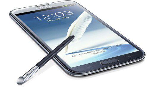 """Das """"Anti-iPhone"""" Samsung Galaxy Note 2 mit Riesen-Display."""