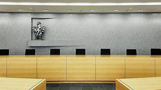 Blick in den Großen Sitzungssaal des Bundesgerichtshofs (BGH) in Karlsruhe