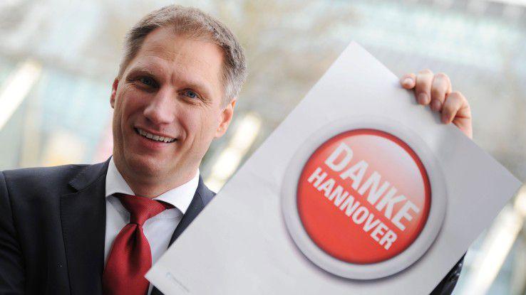 Messe-Vorstand Frank Pörschmann möchte lieber wiegen als zählen.