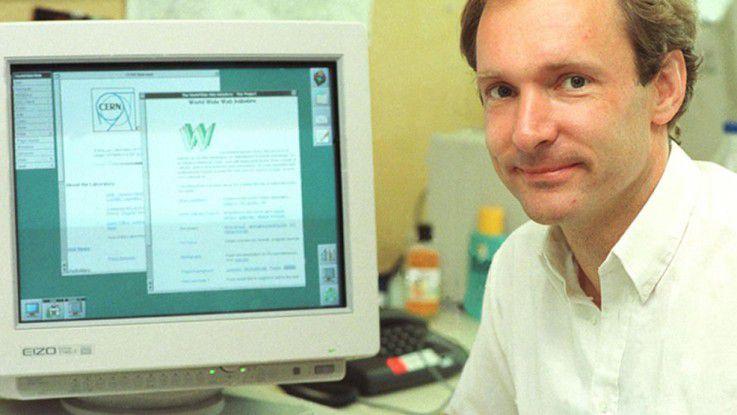 """Tim Berners-Lee wurde für die Erfindungen der Web-Grundlagen längst zum """"Sir"""" geadelt."""