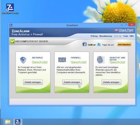 Die aktuelle Version der Zonealarm-Firewall präsentiert sich dem Anwender übersichtlich mit einer gut lokalisierten Oberfläche.