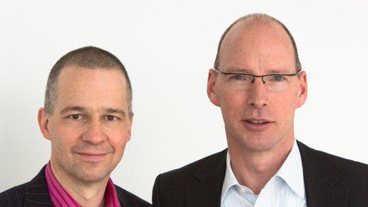 MaibornWolff-Vorstände Volker Maiborn (links) und Jens Rieger schreiben keine Mails nach 22 Uhr.