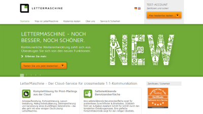 Integriertes Marketing von Web und Print: LetterMaschine automatisiert Mailing via Cloud