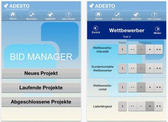 Die App verspricht eine schnelle Einschätzung über das Potenzial der Vertriebsaktivitäten.