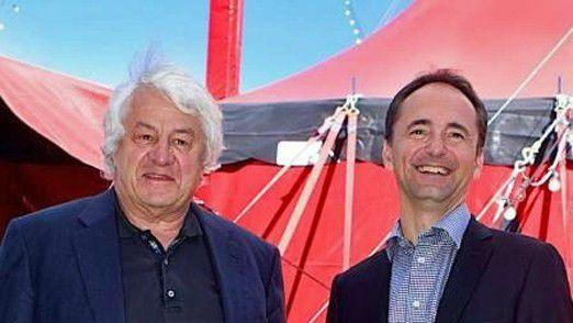 SAP-Mitgründer Plattner und der scheidende CEO Jim Hagemann Snabe im vergangenem Jahr in Potsdam.