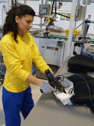 In seinem brandneuen Werk im rumänischen Craiova fertigt Johnson Controls Autositze.