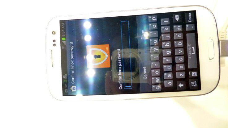 Samsung KNOX auf dem Galaxy S3 (gesperrt)