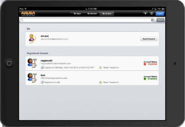 Der Nutzer kann über die Anwendung auch Gastzugänge anlegen.
