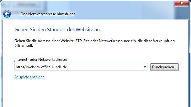 WebDAV erleichtert die Integration des Online-Speichers in das Betriebssystem.
