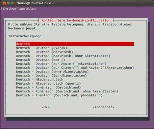 Tastaturbelegung: Ein falsches Keyboard-Layout lässt sich in Ubuntu mit Bordmitteln wieder umstellen.