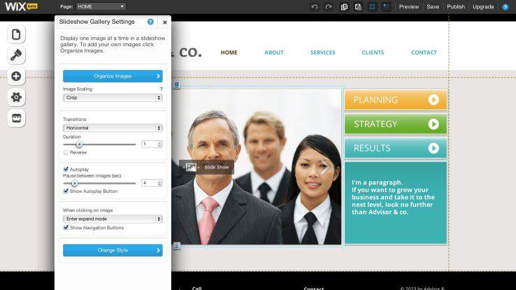 """Im """"Add""""-Menü stecken spannende Dinge, wie zum Beispiel die typischen Funktionen eines Online-Shops."""