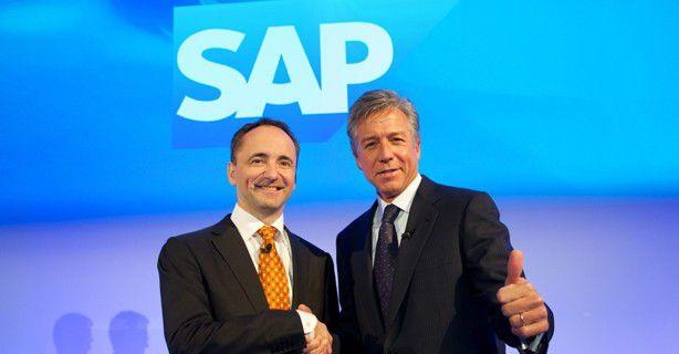 Aus zwei wird einer: Jim Hagemann Snabe (links) überlässt 2014 seinem CEO-Kollegen Bill McDermott die SAP-Spitze.