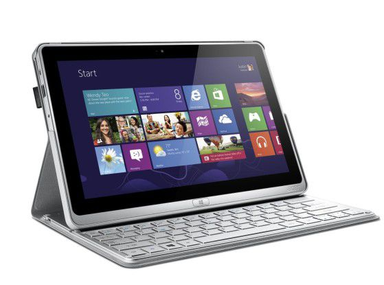 Das Touch & Type-Ultrabook Acer TravelMate X313 mit Intel Core i5-Prozessor, Windows 8 Pro sowie Bluetooth-Tastatur kann auch als Tablet genutzt werden.