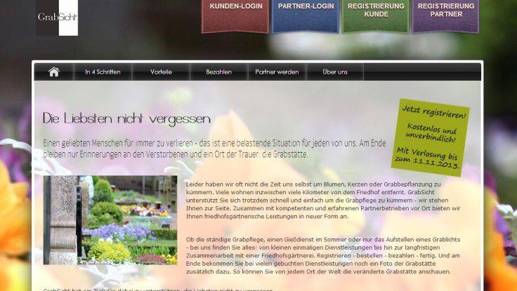 Über GrabSicht.de können Angehörige die Gräber Verstorbener online pflegen.