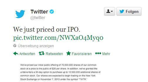 Standesgemäß per Tweet - 140 Zeichen reichten allerdings nicht aus...