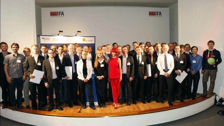 Die Preisträger des Gründerwettbewerbs ITK Innovativ 2012 auf der IFA.