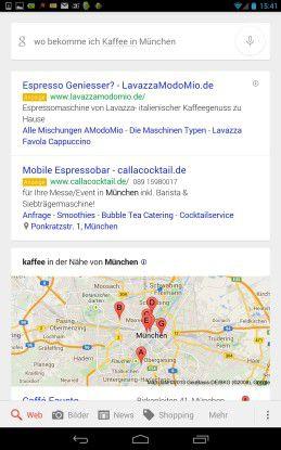 Die mobile Google Suche antwortet jetzt auch in gesprochenem Deutsch.