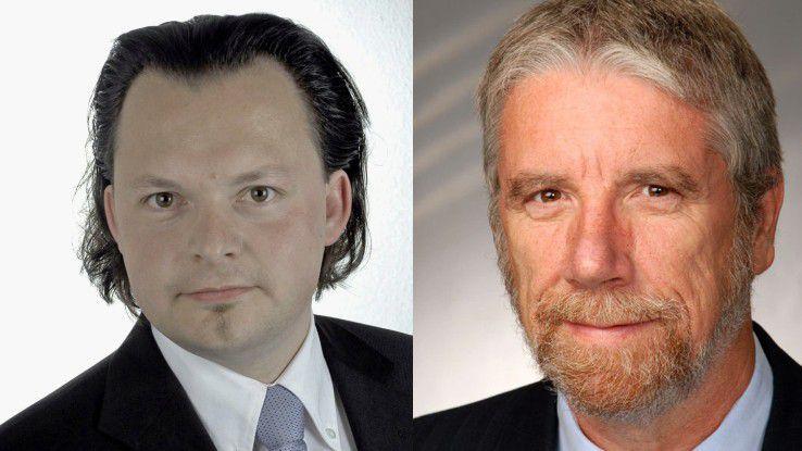 Andy Beyer (links) und Gerhard Humbert (rechts)arbeiten als Personalberater für HSC Personalmanagement.