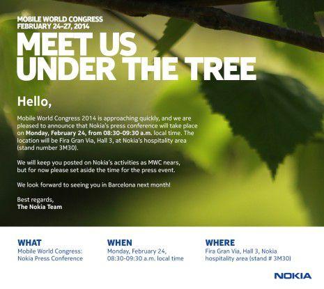 Versteckte Hinweise auf ein Android-Handy in der MWC-Einladung von Nokia?