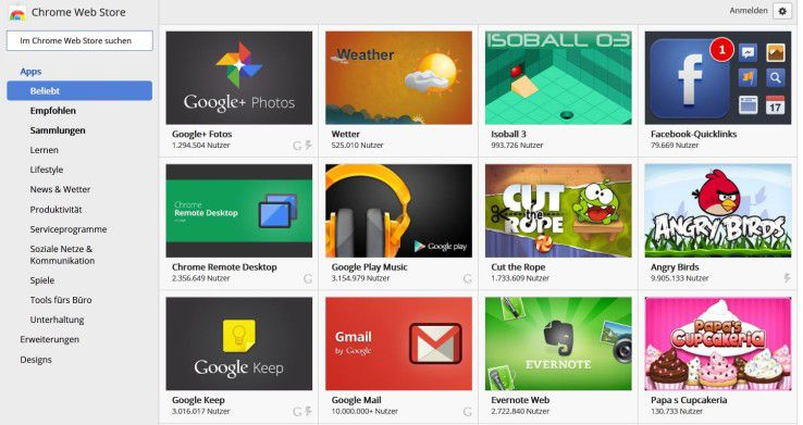 Chrome-Apps (im Bilde der Chrome Market)sollen künftig auch einfach auf mobilen Plattformen laufen. CW-Experte Rittmeyer bezweifelt dies.