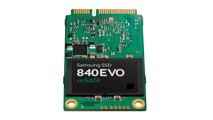 So leicht kann Hochleistungsspeicher sein: Mit der SSD 840 EVO mSATA sind Lese-/Schreib-Leistungen von 540 beziehungsweise 520 MB/s und 98.000 beziehungsweise 90.000 Ein-/Ausgabe-Operationen pro Sekunde (IOPS) möglich – bei einemGewicht von nur 8,5 Gramm.
