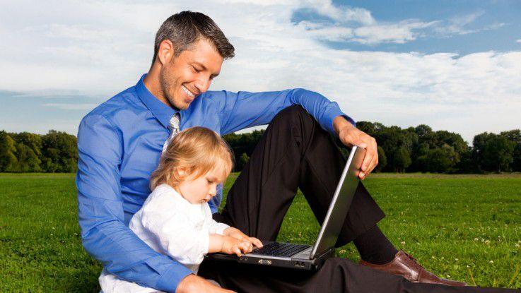 Vereinbarkeit von Beruf und Familie ist auch für Männer ein Thema.