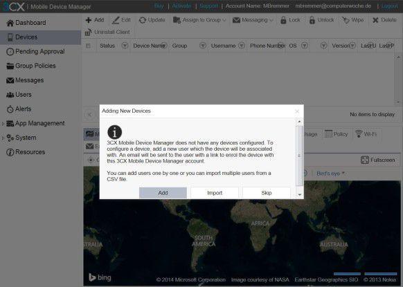 Nutzer können per Hand oder über eine csv.Datei in das MDM-System importiert werden.
