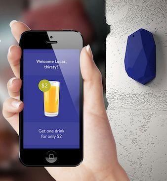 Die Sendemodule für Bluetooth Low Energy werden von Hersteller wie Estimote angeboten.