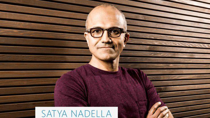 Microsoft-CEO Satya Nadella plant ein Betriebssystem für alle Bildschirmgrößen.