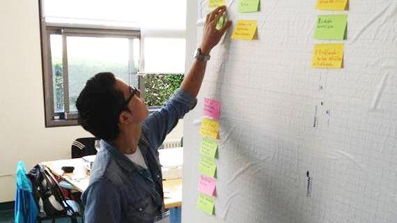 Ein Scrum Board wie beim IT-Dienstleister doubleslash hilft, die Arbeit des Teams auch für das management zu visualisieren.
