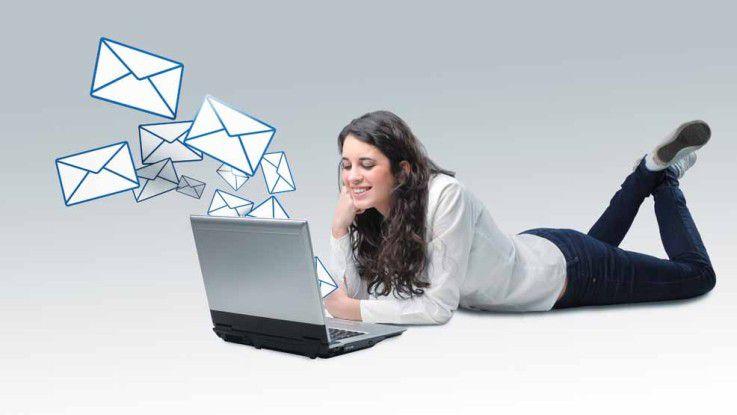 Vor allem für die ca. 30-Jährigen steigert sich die Liebe zur E-Mail-Kommunikation manchmal bis zur Sucht.